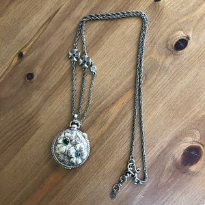 VTG Lucky Brand Bronze Locket & Chain